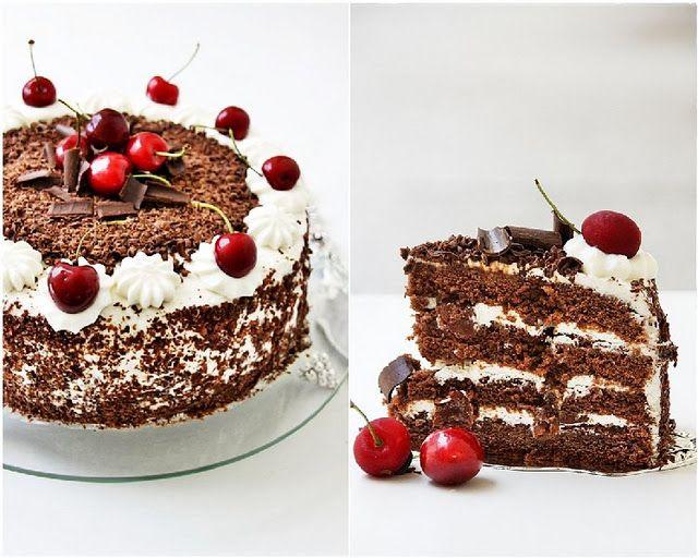 old fashion blackforest cake