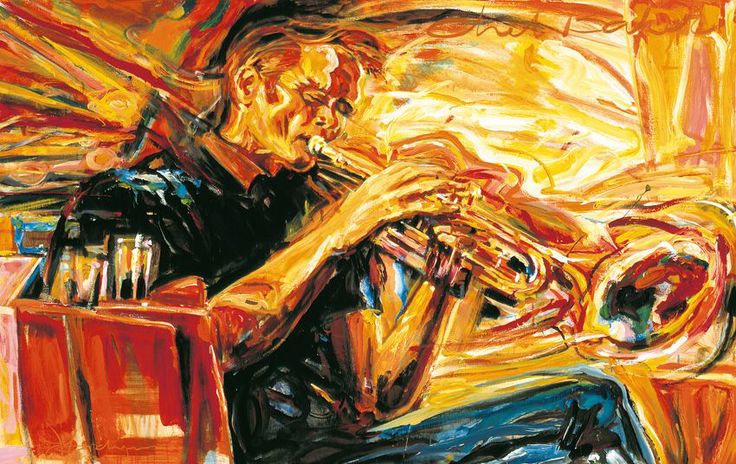 Jazz Art Paintings / Chet Baker / Acrylics on canvas / 160 x120 cm. / Sold