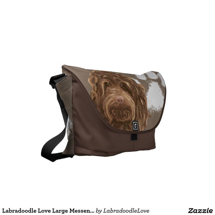 Labradoodle Love Large Messenger Bag   Pet