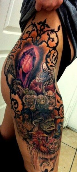 Omg....The Dark Crystal and Labyrinth tattoo. Dang this is freakin awesome!!!!
