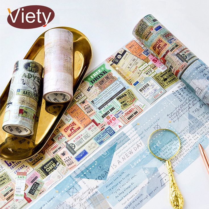 10cm*5m Decorate stamp ticket washi tape DIY decoration scrapbooking planner masking tape adhesive tape label sticker. Yesterday's price: US $3.99 (3.30 EUR). Today's price: US $3.23 (2.67 EUR). Discount: 19%.