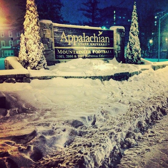 Appalachian State University Fear the Mountaineers
