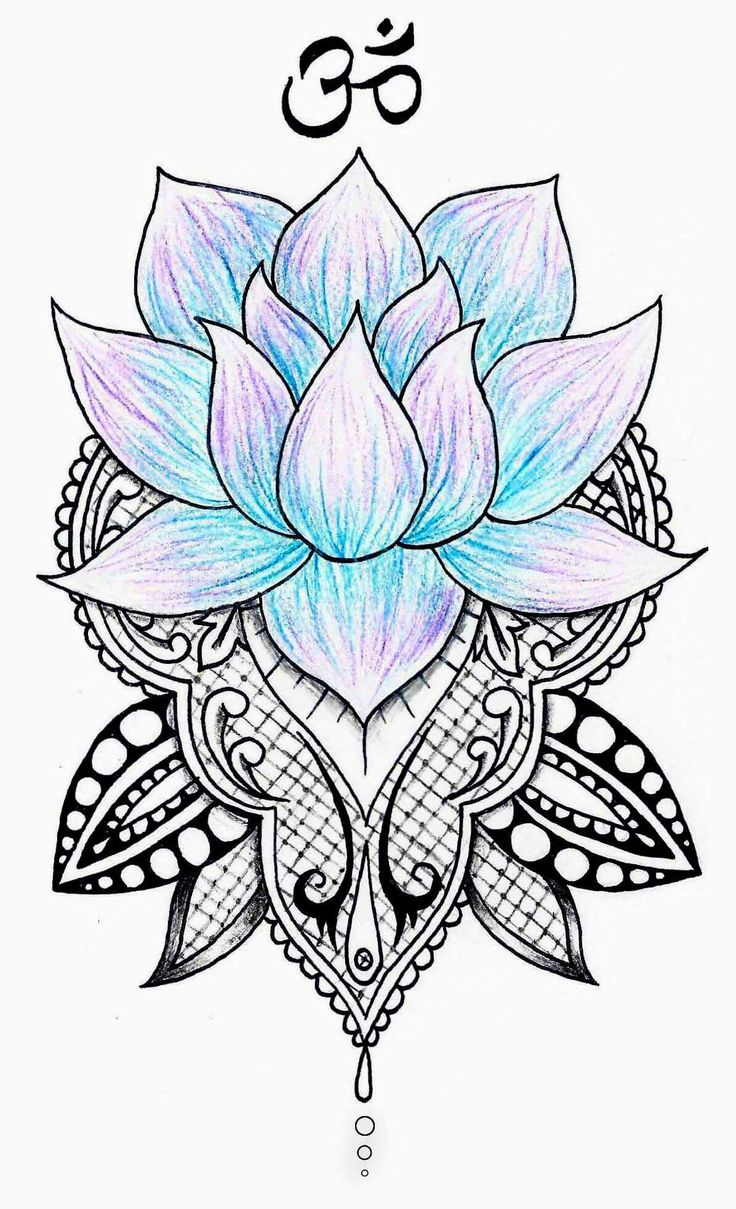 Lotus mandala by Sharni Stitt @radioactive_panda_designs on Instagram