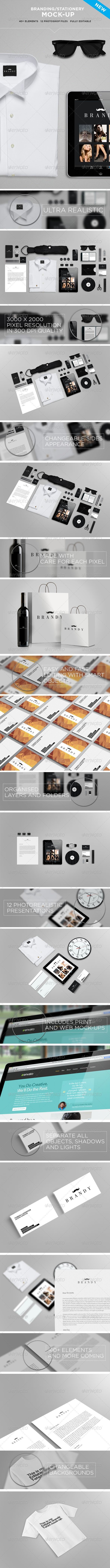 Stationery  Branding Mock-Up :  Check out this great #graphicriver item 'Stationery  Branding Mock-Up' http://graphicriver.net/item/stationery-branding-mockup/5165743?ref=25EGY