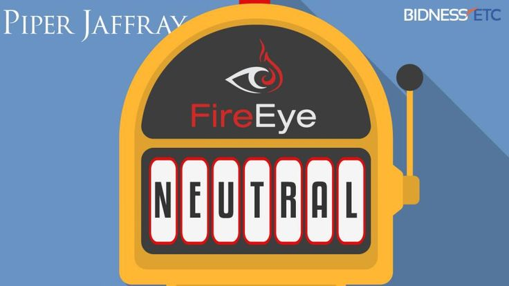 Piper Jaffray has downgraded its rating on FireEye Inc (NASDAQ:FEYE) stock from Overweight to Neutral and slashed its $60 price target to $37.