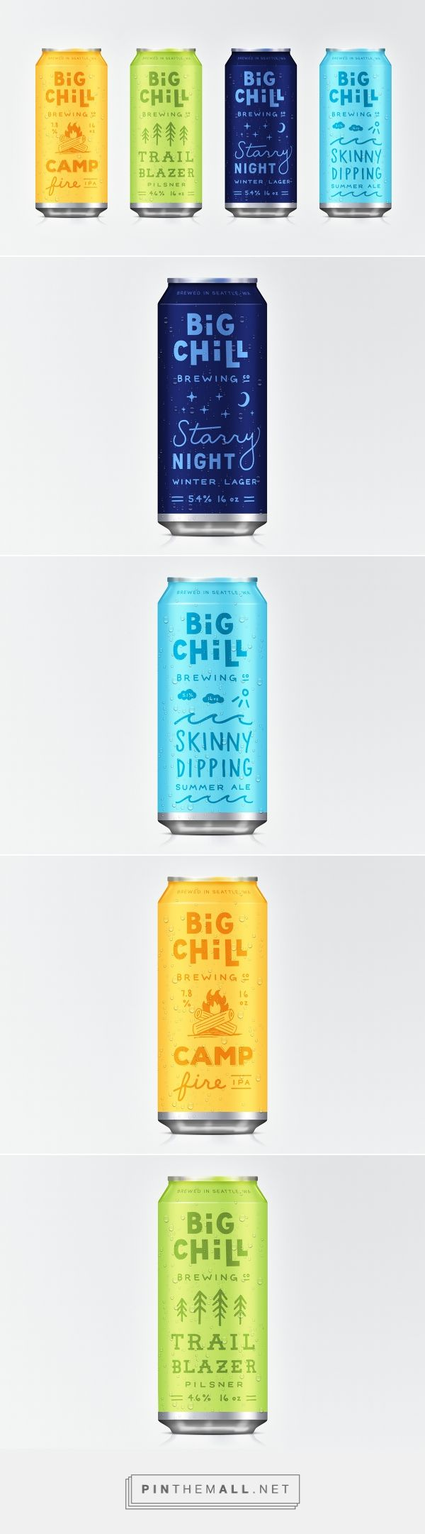 Big Chill Brewing Co. by Danielle Patlak. Source: Behance. Pin curated by #SFields99 #packaging #design