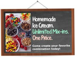 Marble Slab Creamery serves the freshest ice cream on earth, with a variety of gourmet flavor and mixin possibilities.