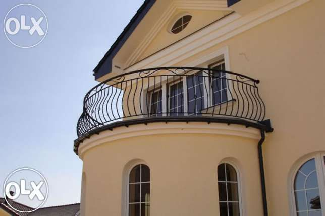 Balustrady balkonowe , kute wewnętrzne , ze stali nierdzewnej Poznań - image 4