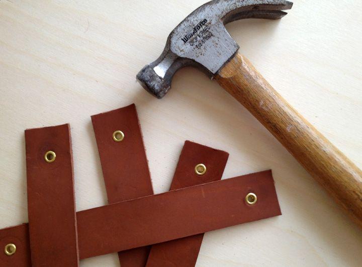leather handle #diy