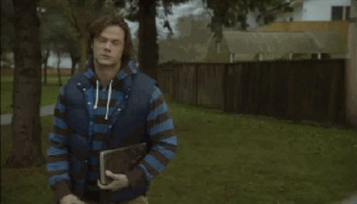 """Resigned: like the day after finals   18 """"Supernatural"""" GIFs To Express Your Every Emotion"""