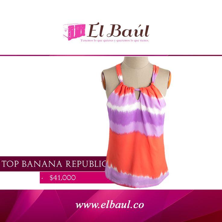 @BananaRepublic la marca indispensable para viajar dale energía a tu estilo  $41,000  http://elbaul.co/Productos/1908/Banana-Republic-top-naranja/morado-poliester-