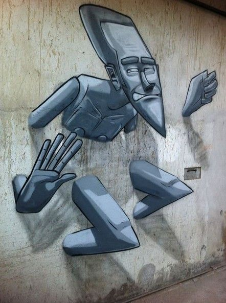 Street art | Mural (Macaé, Rio de Janeiro, Brazil, Dec13) by Marcelo Eco Marchon                                                                                                                                                                                 Mais