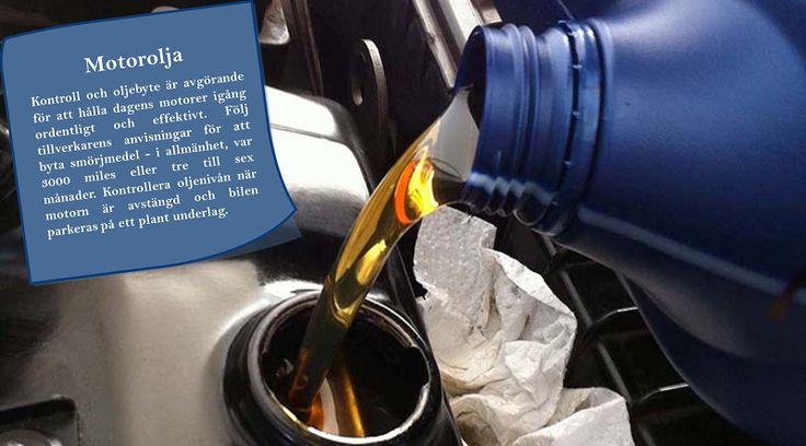 Byt olja var 3000 miles eller var tredje månad  Har du någonsin försökt att blinka med ett sandkorn eller något damm i ögat? Om du inte får ut skräpet i ögat, gör det ont och kan även orsaka skada. Köra med smutsig olja i bilen gör samma sak för bilens motor. #sommardäck