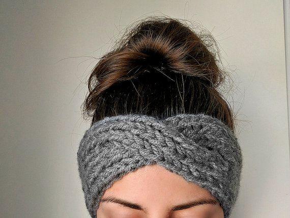 Knit Turban Headband Boho Knit Ear Warmer Knit by TheSnugglery