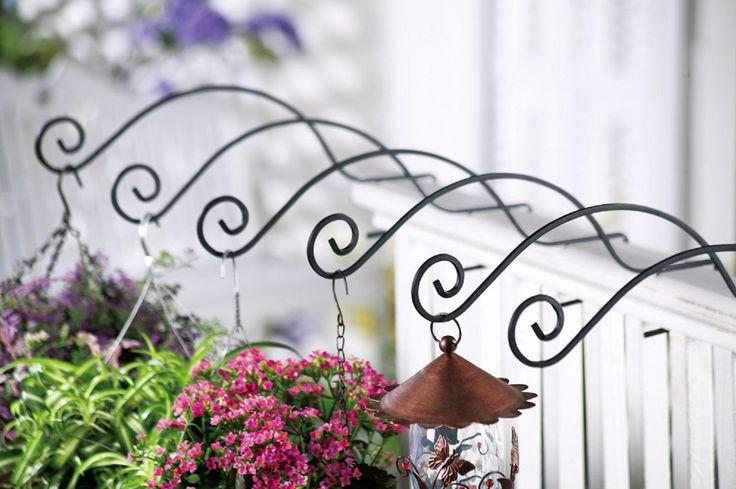 Porch Railing Hangers Yard Decor Outdoor Gardens Deck