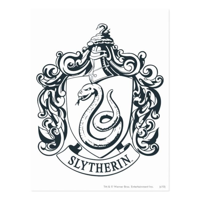 Create Your Own Postcard Zazzle Com Harry Potter Coloring Pages Slytherin Crest Harry Potter Stickers