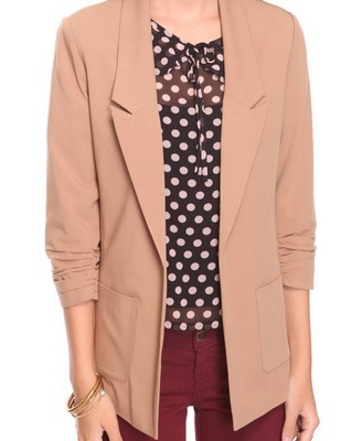 WANT: Light Pink Blazers, Ruched Blazers, Products