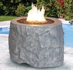 Need a new look for your gas fire pit? Try Lava rock or sand from Serenity Health.