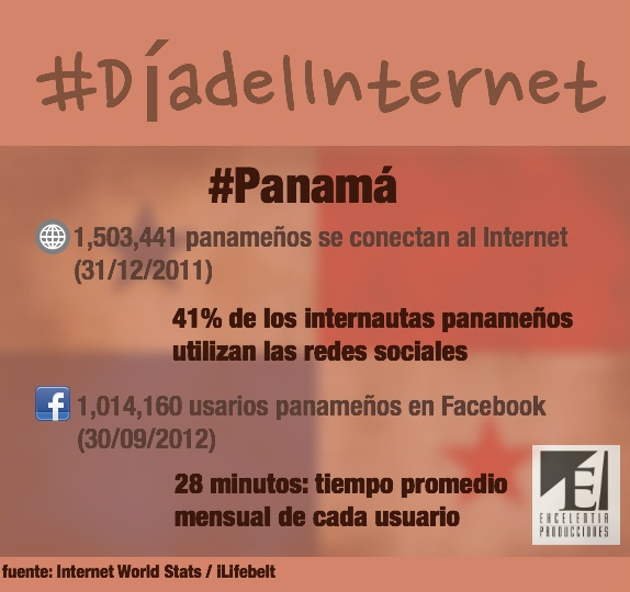 En un país de 3.5M, hay más de 1.5M panameños conectado al Internet y más de 1M son usuarios de Facebook. #Panamá #DíadelInternet