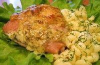 Запеченные с сыром куриные бедрышки (фото рецепт)