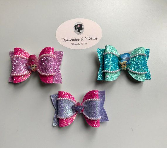 "3 pieces Turquoise blue 2/"" sequin bow tie //DIY baby headband hair bow supplies"