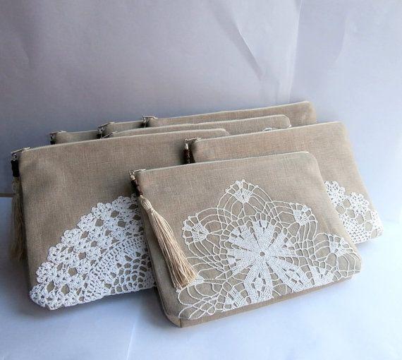 Conjunto de 7 bolsas de Dama de honor arena por KajarCollection
