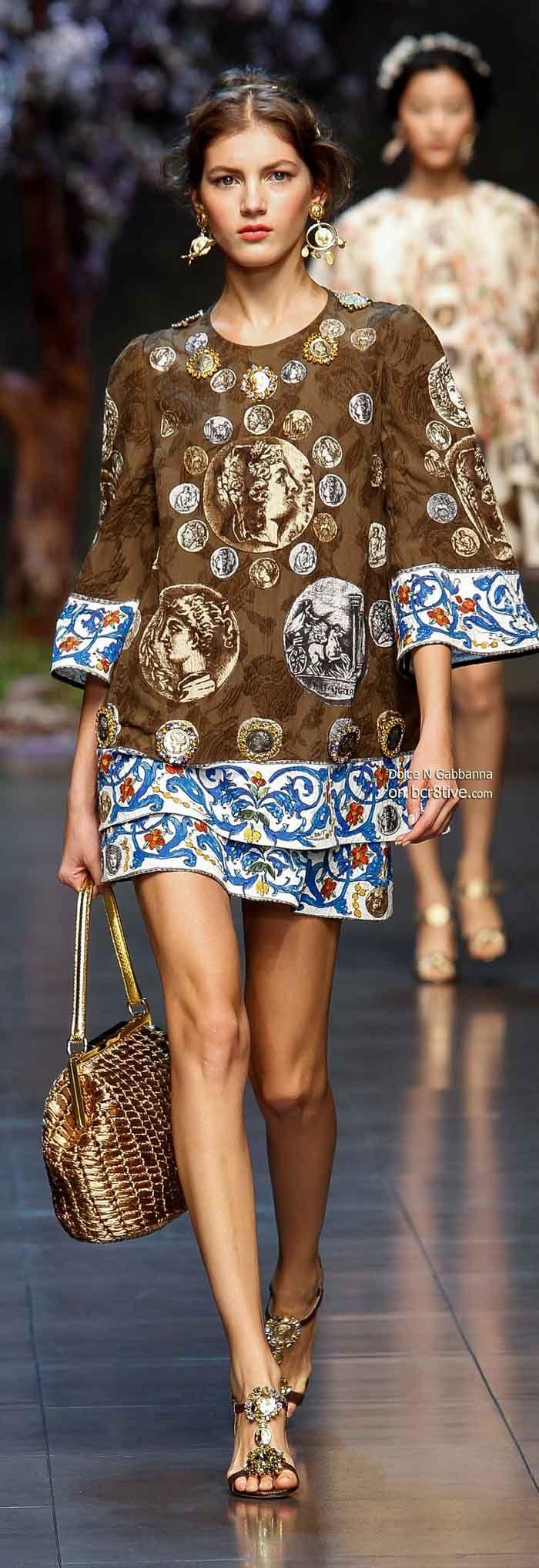 Dolce & Gabbana Spring 2014  Roman coins!