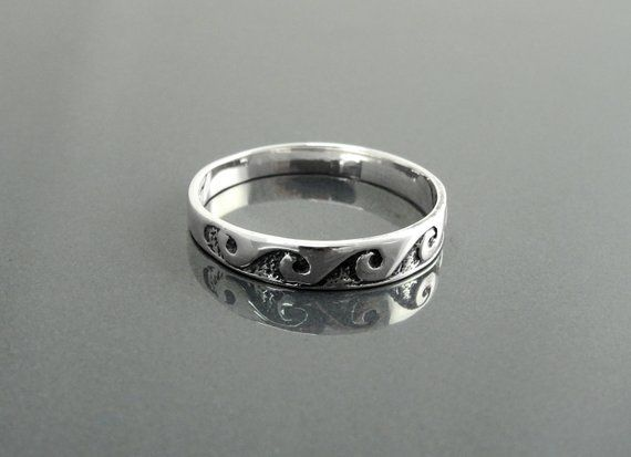 Wave silver band