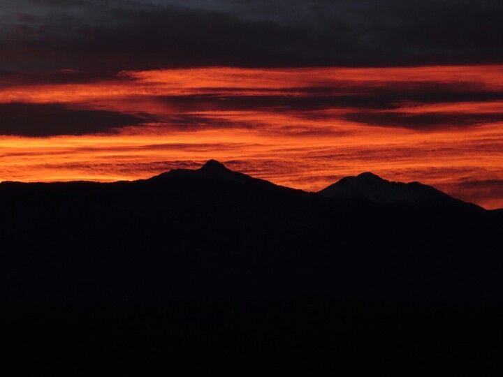 Sonnenaufgang Schwarz- und Weißhorn
