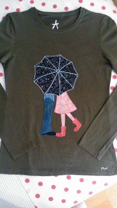 camiseta...cute appliqué idea!