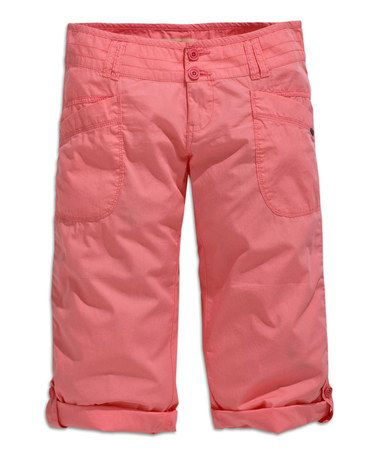 Love this Light Rose Capri Pants by TIMEOUT on #zulily! #zulilyfinds