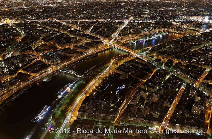 La Ville-Lumière  The whole Champs Elysees view from the top of the Tour Eiffel by night.High resolution print of this photo available @  riccardomantero.smugmug.com  For more photos follow me on instagram @riccardo_mantero