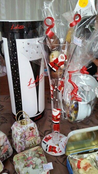 Lolita santa champagne flute