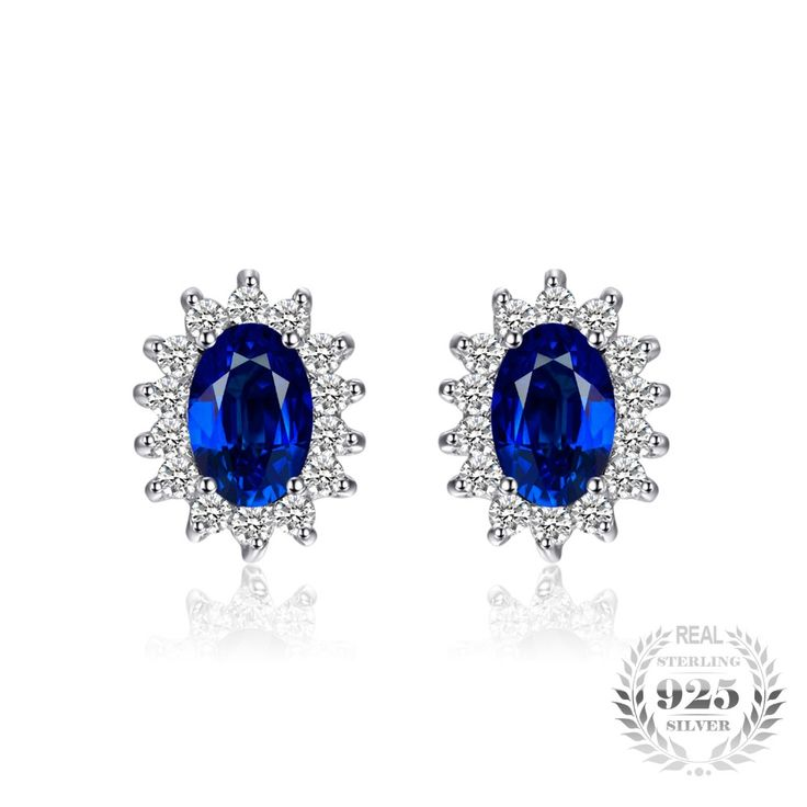 Pure Sterling Silver Blue Sapphire Stud Earrings // Price: $33.95 & FREE Shipping //  We accept PayPal and Credit Cards.    #necklace #pendant #necklaces #pendants #jewelry #jewelrygram #instajewelry #fashionjewelry #gemstone #jewelrydesign #jewelryaddict #jewelrydesigner #jewelrylover #jewelryforsale #jewelryoftheday #jewelrymaking #q80 #jewels #gems #jewel #gem #q8statigram #stones #jotd #bling #handmadejewelry #gemstones #earrings
