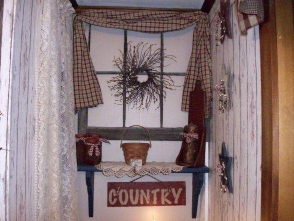 Primitive Americana Bathroom   Bathroom Designs   Decorating Ideas .