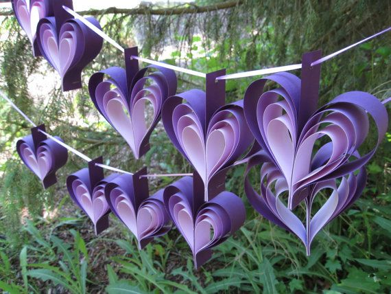 Garlands Of PURPLE HEARTS