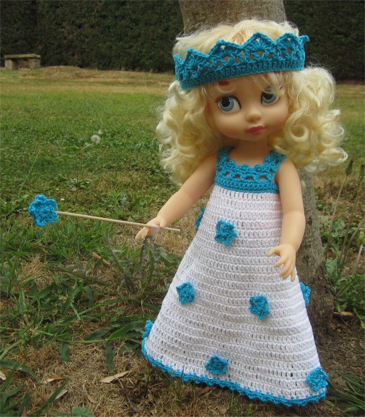 97- FICHE PATRON Tenue Princesse Sonia au crochet pour poupée Animator : Jeux…