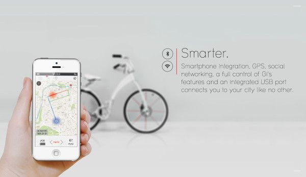 A Light, Smart eBike for City Dwellers : the Gi Bike, a smart bike that's foldable and perfect for city dwellers. Its most intriguing features are its light frame and easy foldability, along with an app that keeps you updated of any hazards, construction, and heavy traffic.