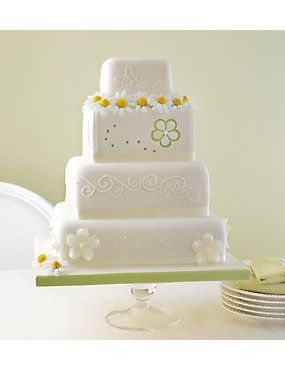 The 4 Tier Meadow Assorted Cake With Different Designs On Each This Really Is A Special For Your Perfect Day