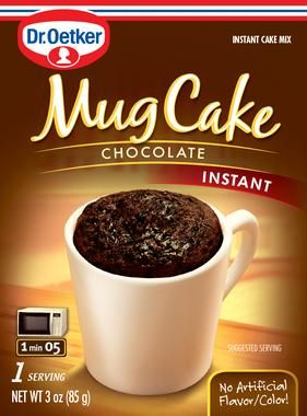 I first found this Mug Cake on a trip to Sevilla Spain. I had tried a dozen variations of mug cake recipes but none were quite right - too mushy, not tasty. But this mug cake is great & easy. Chocolate Mug Cake – Mug Cakes by Dr. Oetker
