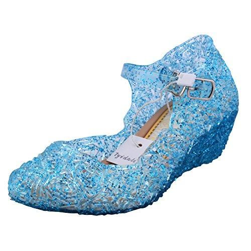 Oferta: 30.5€ Dto: -71%. Comprar Ofertas de Tyidalin Niña Bailarina Zapatos de Tacón Disfraz de Princesa Zapatilla de Ballet para 3 a 12 Años Azul EU28 barato. ¡Mira las ofertas!