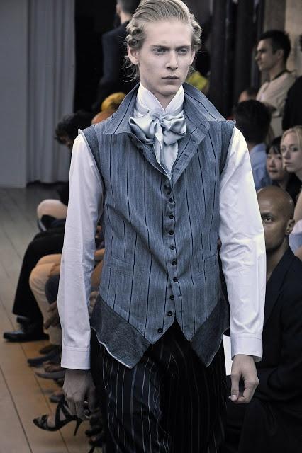 Yohji Yamamoto, S.S 2011, reference to the sleeveless waist coat worn by 18th century men