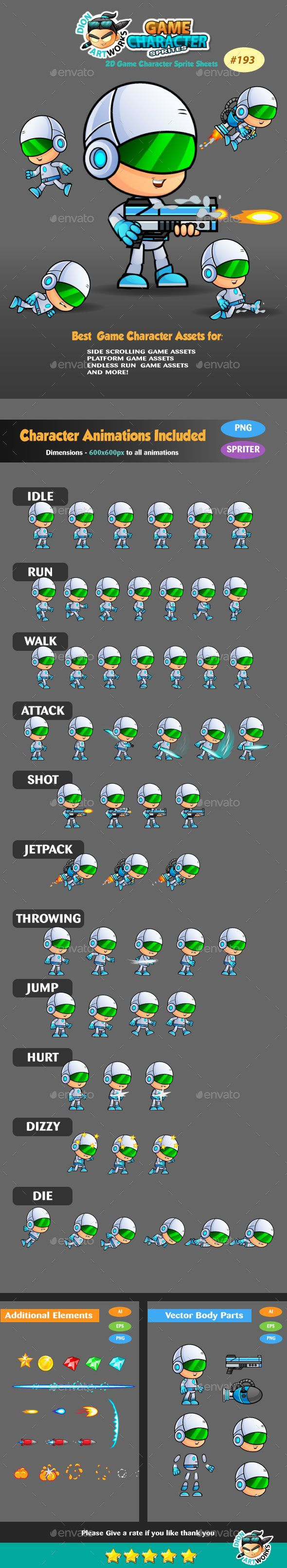 2D Game Character Sprites 193 - #Sprites #Game #Assets Download here: https://graphicriver.net/item/2d-game-character-sprites-193/15019924?ref=alena994
