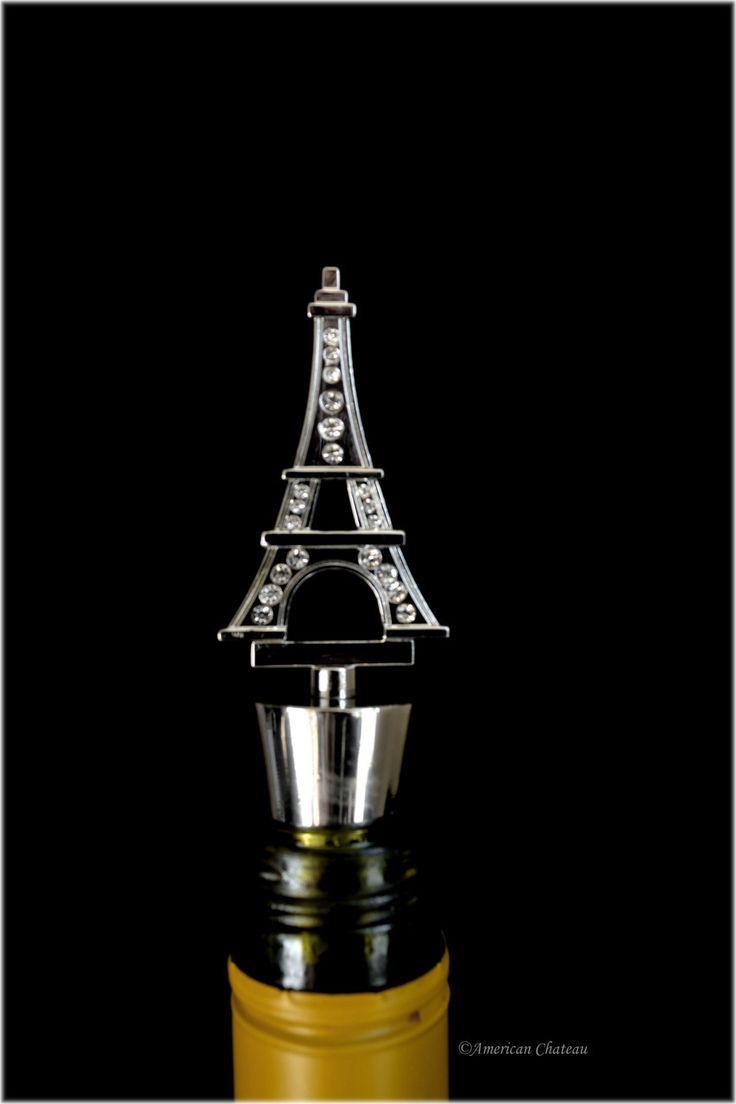 American Chateau - Jeweled Metal Eiffel Tower Paris Wine Bottle Stopper EB4ND309, C$15.65 (http://www.americanchateau.com/Jeweled-Metal-Eiffel-Tower-Paris-Wine-Bottle-Stopper-EB4ND309/)