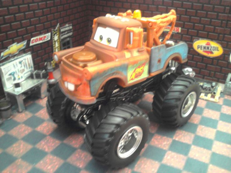 custom built 1 64 scale pixar cars tow mater hot wheels monster jam truck cars trucks and. Black Bedroom Furniture Sets. Home Design Ideas