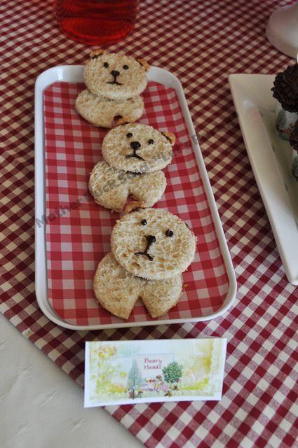 Cute teddy bear cookies