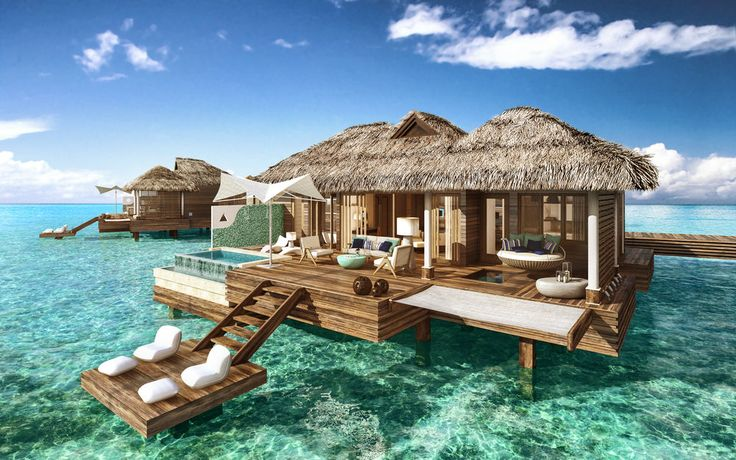 All-Inclusive Overwater Bungalow Resort in the Caribbean   Private Island Overwater Bungalow   Private plunge pool