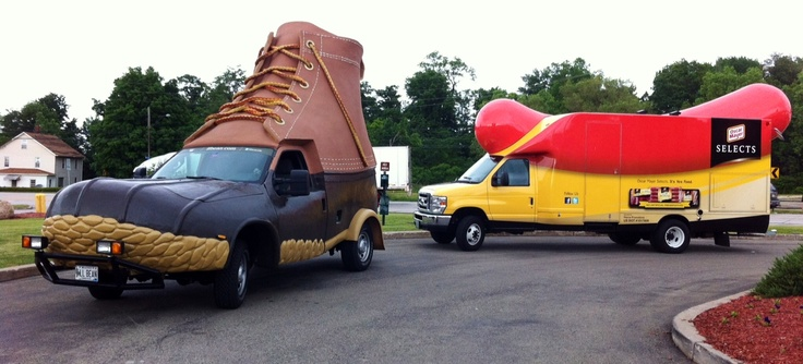 Bootmobile and Wienermobile meet up in PA