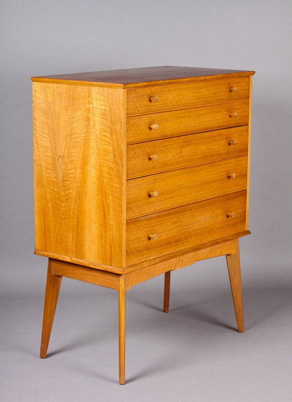 danish modern alfred cox mid century modern tall afromosia teak highboy chest of drawers. Black Bedroom Furniture Sets. Home Design Ideas