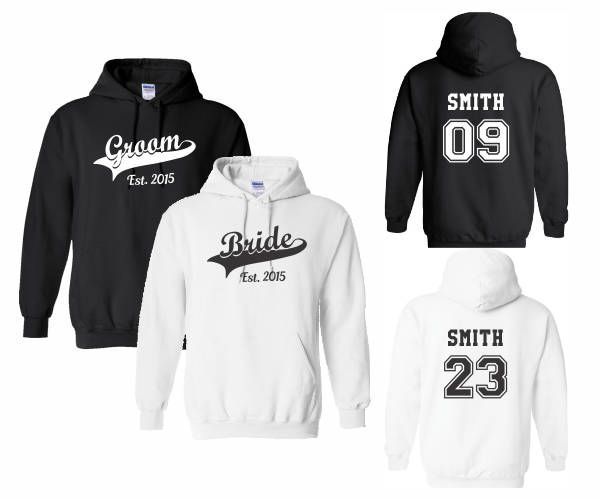 04d2a7729e Customized Personalized Couples Groom Bride Wifey Hubby Wife Husband Mr Mrs  King Queen Hoodies Sweatshirts,